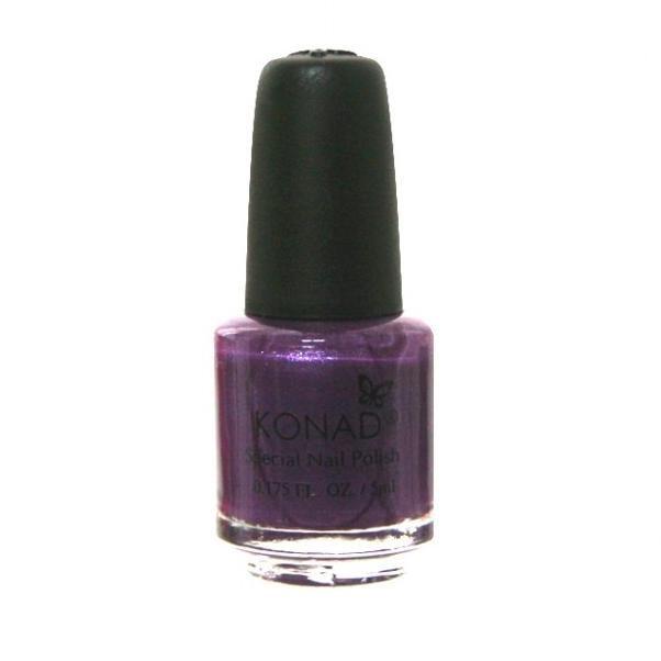 Konad, лак для стемпинга, цвет S18 Violet Pearl 5 ml (фиолетово-перламутровый)Лаки для стемпинга Konad<br>Специальный лак для нанесения рисунка с помощью стемпинга.<br>