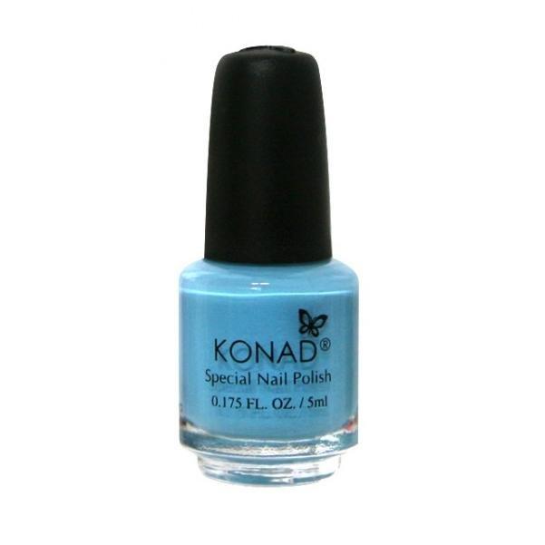 Konad, лак для стемпинга, цвет S20 Pastel Blue 5 ml (пастельно-голубой)Лаки для стемпинга Konad<br>Специальный лак для нанесения рисунка с помощью стемпинга.<br>