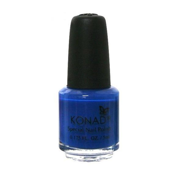 Konad, лак для стемпинга, цвет S22 Blue 5 ml (синий)Лаки для стемпинга Konad<br>Специальный лак для нанесения рисунка с помощью стемпинга.<br>