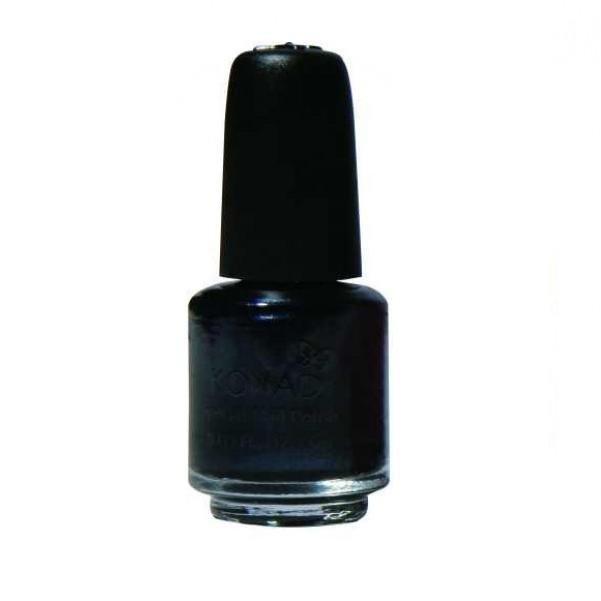 Konad, лак для стемпинга, цвет S24 Black Pearl 5 ml (черный с перламутром)Лаки для стемпинга Konad<br>Специальный лак для нанесения рисунка с помощью стемпинга.<br>