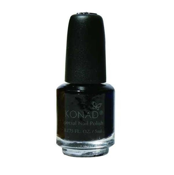 Konad, лак для стемпинга, цвет S25 Black 5 ml (черный)Лаки для стемпинга Konad<br>Специальный лак для нанесения рисунка с помощью стемпинга.<br>