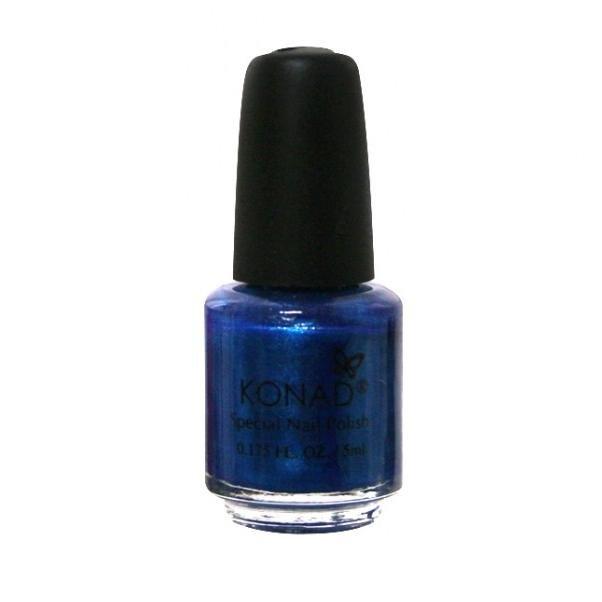 Konad, лак для стемпинга, цвет S27 Blue Pearl 5 ml (синий перламутровый)Лаки для стемпинга Konad<br>Специальный лак для нанесения рисунка с помощью стемпинга.<br>