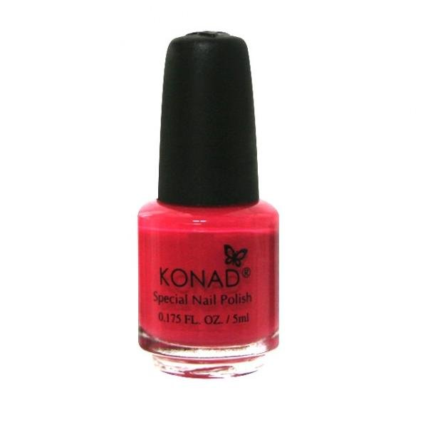 Konad, лак для стемпинга, цвет S30 Psycho Pink 5 ml (ярко-розовый с перламутром)Лаки для стемпинга Konad<br>Специальный лак для нанесения рисунка с помощью стемпинга.<br>