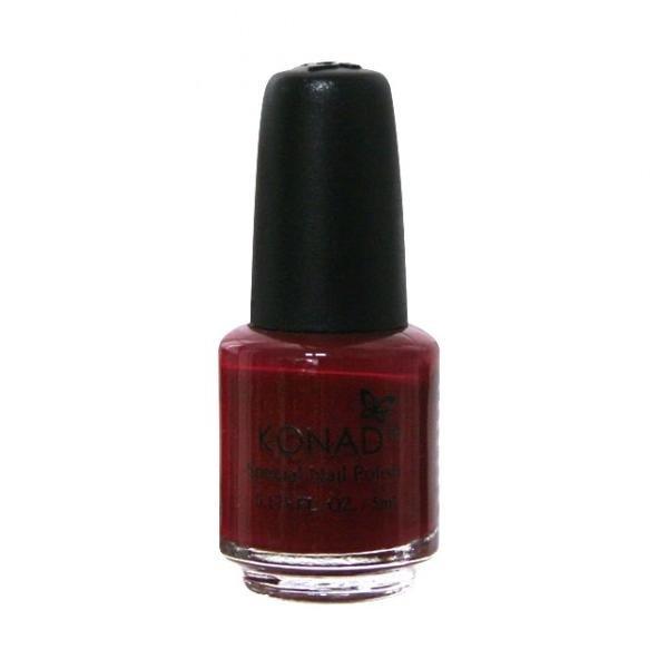 Konad, лак для стемпинга, цвет S38 Dark Red 5 ml (темно-красный)Лаки для стемпинга Konad<br>Специальный лак для нанесения рисунка с помощью стемпинга.<br>
