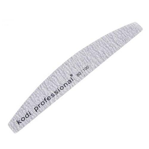 Kodi, Пилка для ногтей Half Grey - Лодочка, 80х100Пилки для искусственных ногтей<br>ПилкаHalfGrey80/100- используется для опиливания искусственных ногтей и типс.<br>