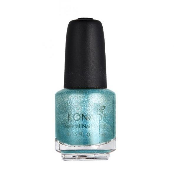 Konad, лак для стемпинга, цвет S56 Hepburn Blue 5 ml (бирюзовый, перламутр)Лаки для стемпинга Konad<br>Специальный лак для нанесения рисунка с помощью стемпинга.<br>