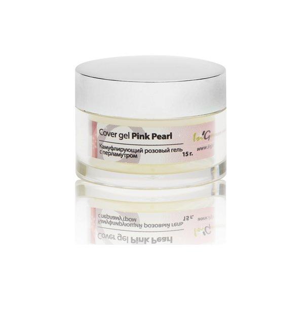 InGarden, Cover Pink Pearl gel - Камуфлирующий розовый гель с перламутром, 15 гГели InGarden Nail Systems <br>Однофазный самовыравнивающийся гель розовый непрозрачный с эффектом перламутрового блеска.<br>