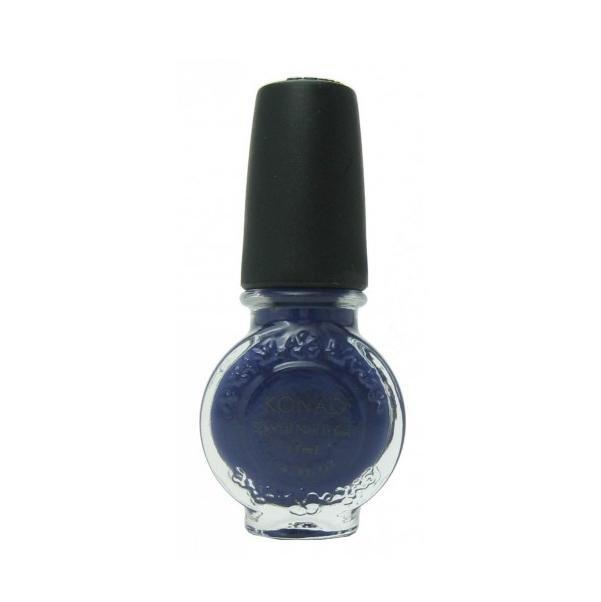 Konad, лак для стемпинга, цвет S23 Royal Purple 11 ml (сине-фиолетовый)Лаки для стемпинга Konad<br>Специальный лак для нанесения рисунка с помощью стемпинга.<br>