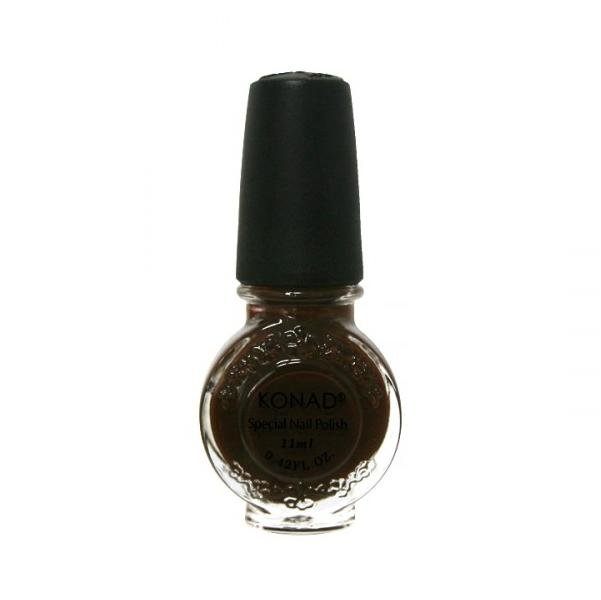 Konad, лак для стемпинга, цвет S32 Chocolate 11 ml (шоколадно-коричневый)Лаки для стемпинга Konad<br>Специальный лак для нанесения рисунка с помощью стемпинга.<br>