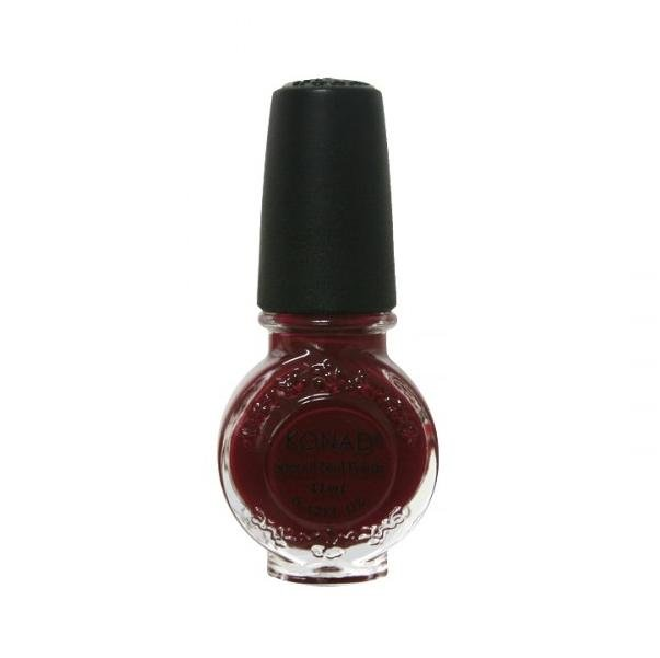 Konad, лак для стемпинга, цвет S38 Dark Red 11 ml (темно-красный)Лаки для стемпинга Konad<br>Специальный лак для нанесения рисунка с помощью стемпинга.<br>