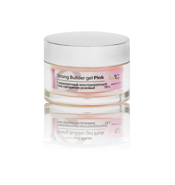 InGarden, Strong Pink Builder gel  - Сверхпрочный конструирующий гель прозрачно-розовый, 15 гГели InGarden Nail Systems <br>Сверхпрочный конструирующий гель прозрачно-розовый.<br>