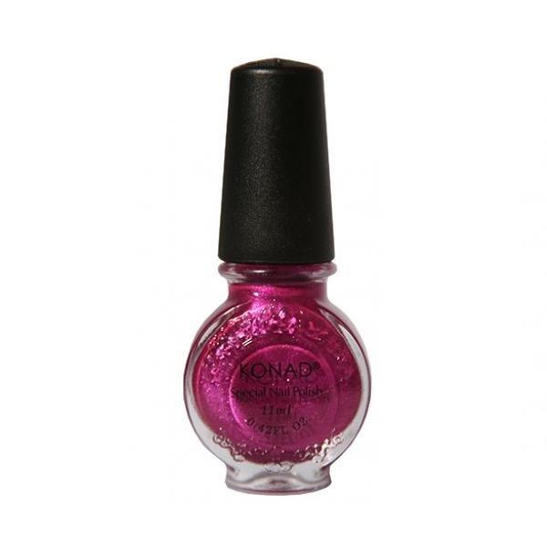 Konad, лак для стемпинга, цвет S55 Pinky Red 11 ml (розово-красный, перламутр)Лаки для стемпинга Konad<br>Специальный лак для нанесения рисунка с помощью стемпинга.<br>