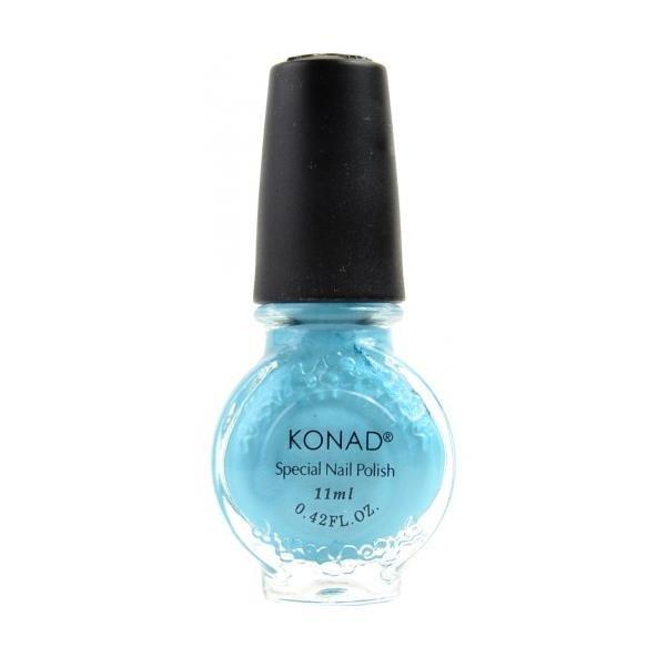 Konad, лак для стемпинга, цвет S56 Hepburn Blue 11 ml (бирюзовый, перламутр)Лаки для стемпинга Konad<br>Специальный лак для нанесения рисунка с помощью стемпинга.<br>
