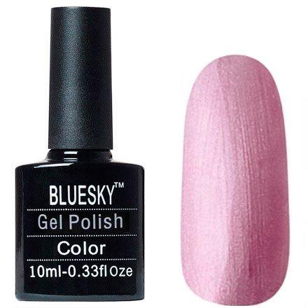 Bluesky, Шеллак цвет № 80609 Tundra 10 mlBluesky 10 мл<br>Гель-лак светло-розовый металлик, перламутровый, плотный<br>