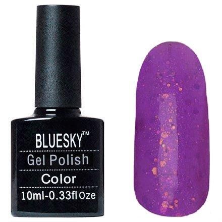 Bluesky, Шеллак цвет № 80610 Nordic Light 10 mlBluesky 10 мл<br>Гель-лак сиреневый, полупрозрачный, с разноцветными блестками<br>
