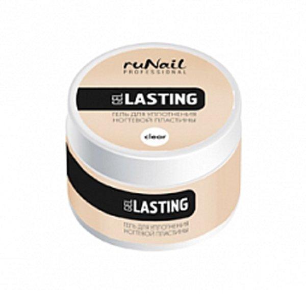 ruNail, Lasting gel - Гель для уплотнения ногтевой пластины (прозрачный), 15 гУФ гели RuNail<br>Гель предназначен для уплотнения и придания прочности ногтевой пластине.<br>