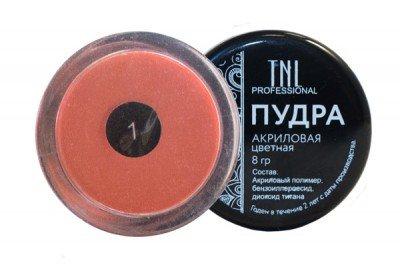 TNL, Акриловая пудра №01 - оранжевая (8 гр.)Акриловая пудра TNL<br>Цветная акриловая пудра, оранжевая.<br>