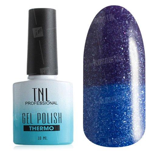 TNL, Гель-лак - Thermo Effect №21 Ультрамарин/Синий с перламутром (10 мл.)Термо<br>Термо гель-лак насыщенный фиолетовый/ультрамарин, с микроблестоками, плотный<br>