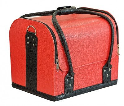 TNL, Кейс маникюриста, кожа (Красный с черными ручками)Сопутствующие материалы<br>Cовременный кейс предназначен для хранения маникюрных и педикюрных инструментов.<br>