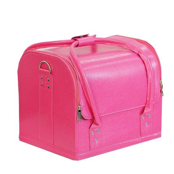 TNL, Кейс маникюриста, гладкая кожа (Розовый)Кейсы<br>Cовременный кейс предназначен для хранения маникюрных и педикюрных инструментов.<br>