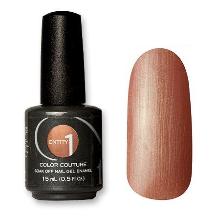 Entity One Color Couture, цвет №7124 Camel Cammie 15 mlColor Couture Entity One<br>Гель-лак бежево-персиковый, перламутровый, с легким изумрудным отливом, плотный<br>