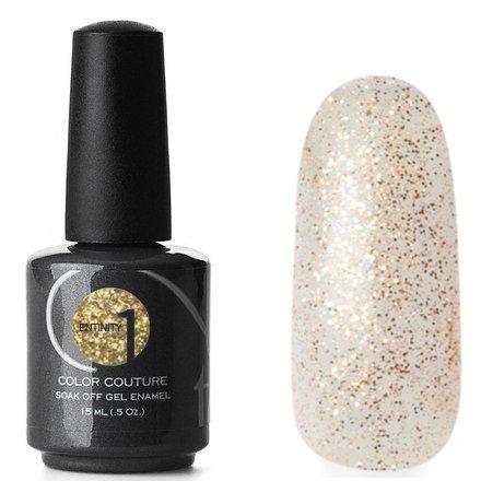Entity One Color Couture, цвет №6943 Golden Starlet 15 mlColor Couture Entity One<br>Гель-лак прозрачный с добавлением золотых и голографических микроблесток<br>