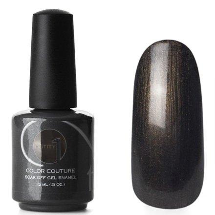 Entity One Color Couture, цвет №7056 Seductive Suede 15 mlColor Couture Entity One<br>Гель-лак темный золотисто-болотный, перламутровый, плотный<br>