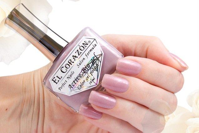 El Corazon Active Bio-gel Shimmer, № 423/4Лечебный биогель El Corazon<br>Био-гельсеровато-розовый, с мерцающим шиммером, плотный. Объем 16 ml.<br>