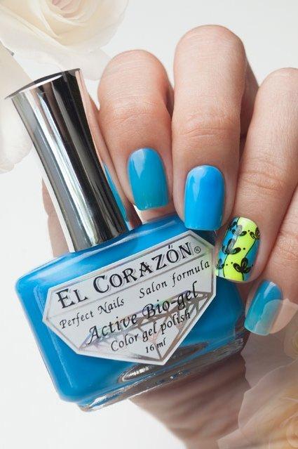 El Corazon Active Bio-gel Color gel polish Jelly neon №423-252Лечебный биогель El Corazon<br>Био-гель голубой, неоновый, плотный. Объем 16 ml.<br>