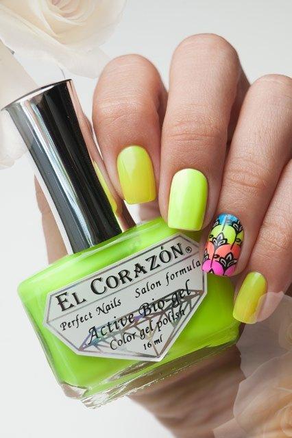 El Corazon Active Bio-gel Color gel polish Jelly neon №423-251Лечебный биогель El Corazon<br>Био-гель лаймовый, неоновый, плотный. Объем 16 ml.<br>