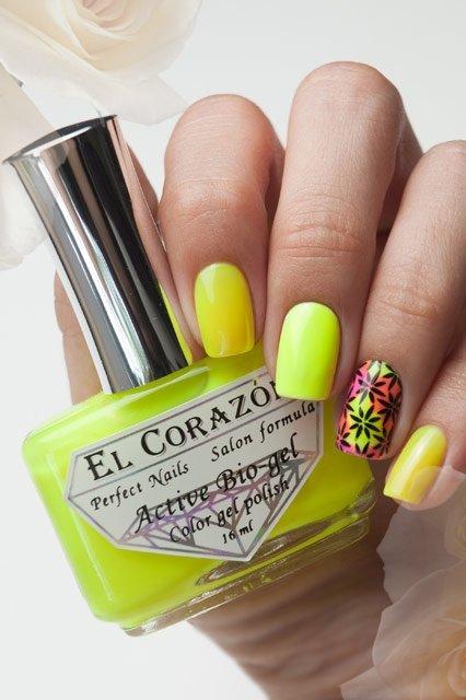 El Corazon Active Bio-gel Color gel polish Jelly neon №423-253Лечебный биогель El Corazon<br>Био-гель лимонный, неоновый, плотный. Объем 16 ml.<br>