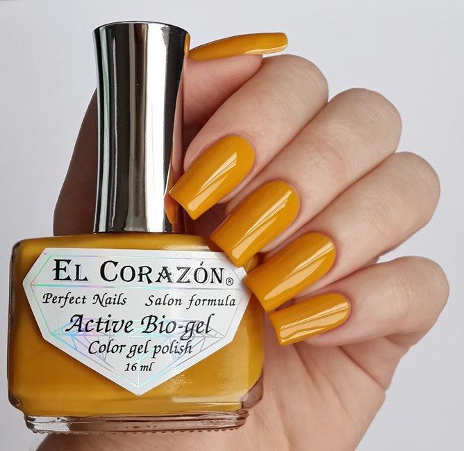 El Corazon Active Bio-gel Color gel polish Cream №423/262Лечебный биогель El Corazon<br>Био-гель мандариновый, без блесток и перламутра, плотный. Объем 16 ml.<br>
