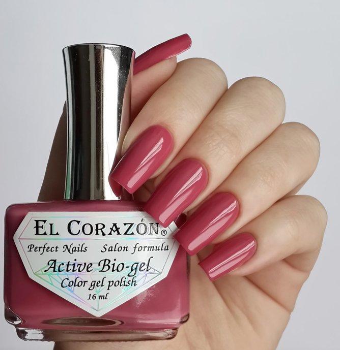 El Corazon Active Bio-gel Color gel polish Cream №423/263Лечебный биогель El Corazon<br>Био-гель серо-розовый, без блесток и перламутра, плотный. Объем 16 ml.<br>