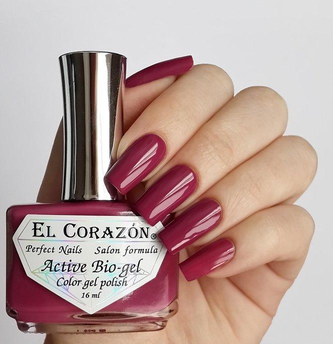 El Corazon Active Bio-gel Color gel polish Cream №423-264Лечебный биогель El Corazon<br>Био-гель темный розово-лиловый, без блесток и перламутра, плотный. Объем 16 ml.<br>