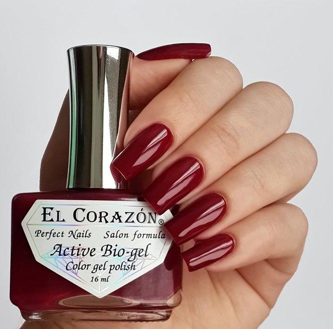 El Corazon Active Bio-gel Color gel polish Cream №423/266Лечебный биогель El Corazon<br>Био-гель винный, без блесток и перламутра, плотный. Объем 16 ml.<br>