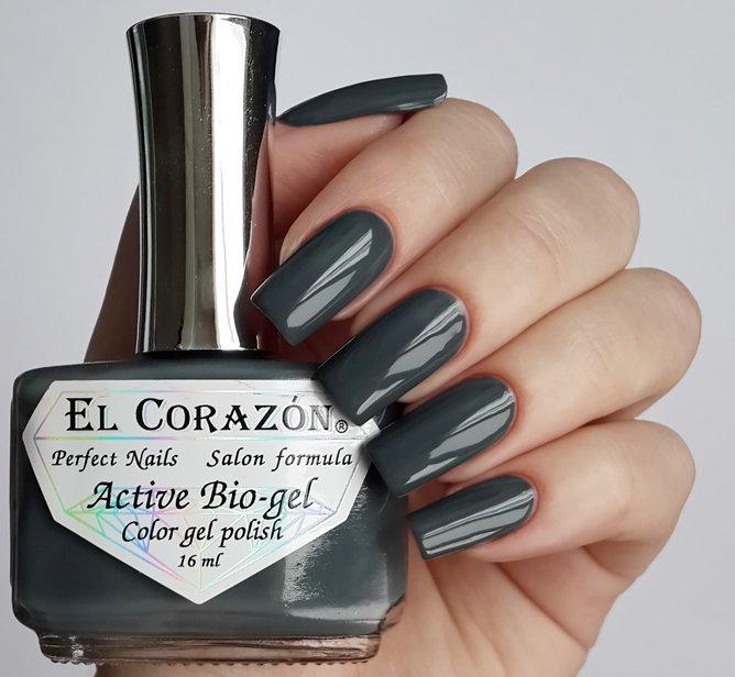 El Corazon Active Bio-gel Color gel polish Cream №423-267Лечебный биогель El Corazon<br>Био-гель серый, без блесток и перламутра, плотный. Объем 16 ml.<br>