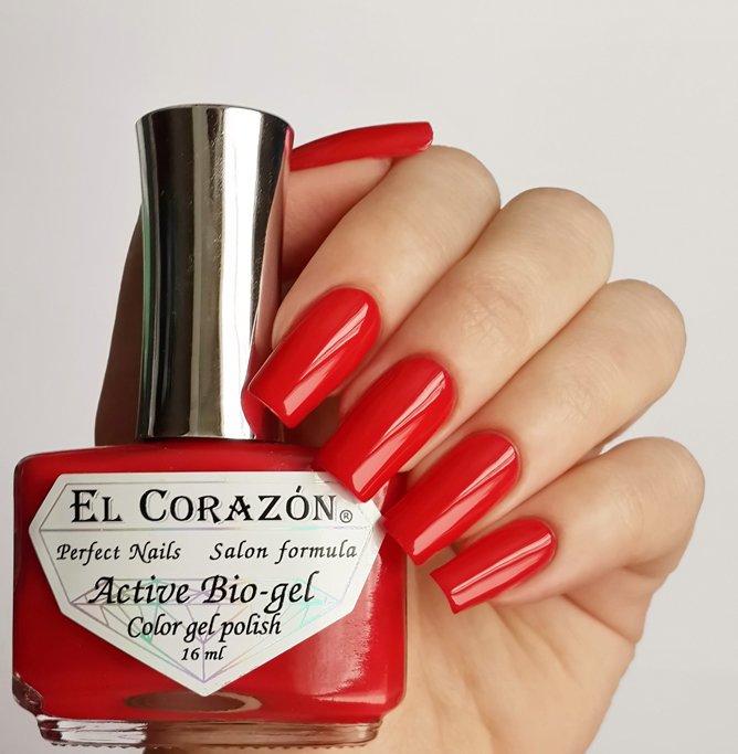 El Corazon Active Bio-gel Color gel polish Cream №423-273Лечебный биогель El Corazon<br>Био-гель алый, без блесток и перламутра, плотный. Объем 16 ml.<br>