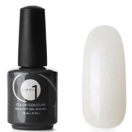 Entity One Color Couture, цвет №6424 Milan Crema 15 mlColor Couture Entity One<br>Гель-лак сливочно-белый с серебристыми микроблестками, перламутровый, плотный<br>
