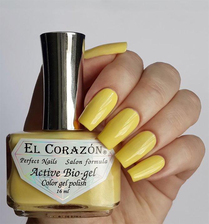El Corazon Active Bio-gel Color gel polish Cream №423-280Лечебный биогель El Corazon<br>Био-гель кремовый желтый, без блесток и перламутра, плотный. Объем 16 ml.<br>