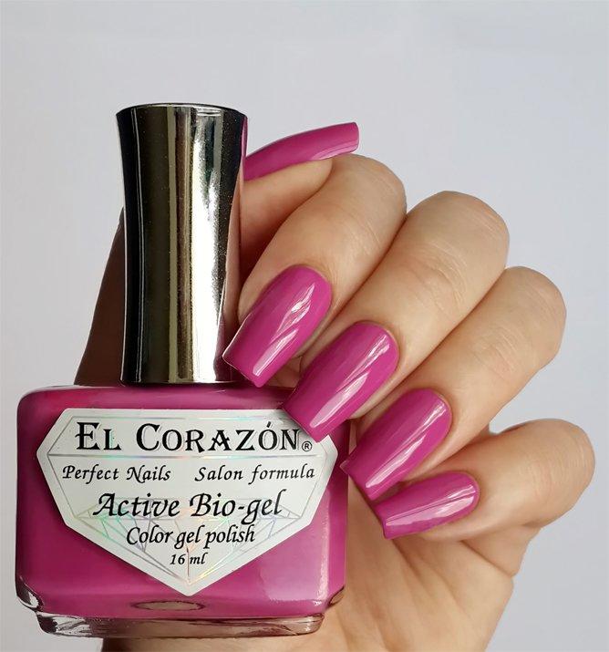 El Corazon Active Bio-gel Color gel polish Cream №423/286Лечебный биогель El Corazon<br>Био-гель кремовый фиолетово-розовый, без блесток и перламутра, плотный. Объем 16 ml.<br>