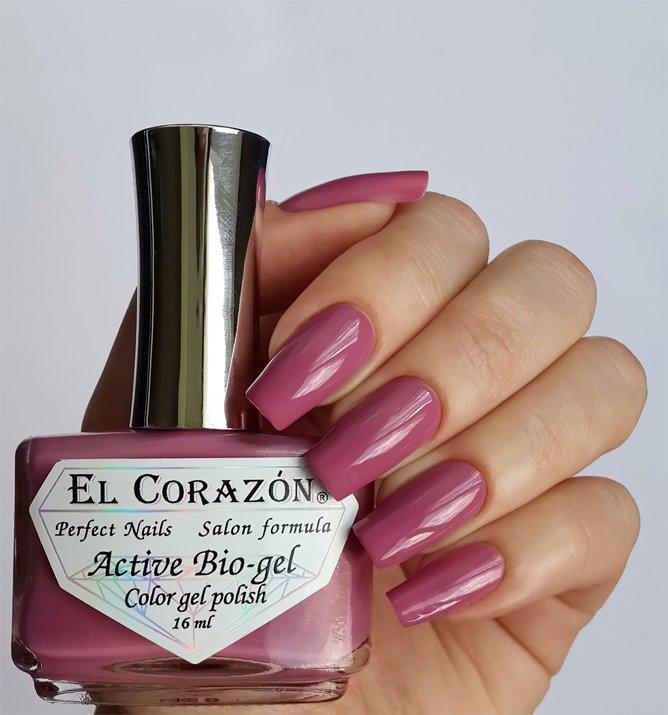 El Corazon Active Bio-gel Color gel polish Cream №423-287Лечебный биогель El Corazon<br>Био-гель кремовый розово-лиловый, без блесток и перламутра, плотный. Объем 16 ml.<br>