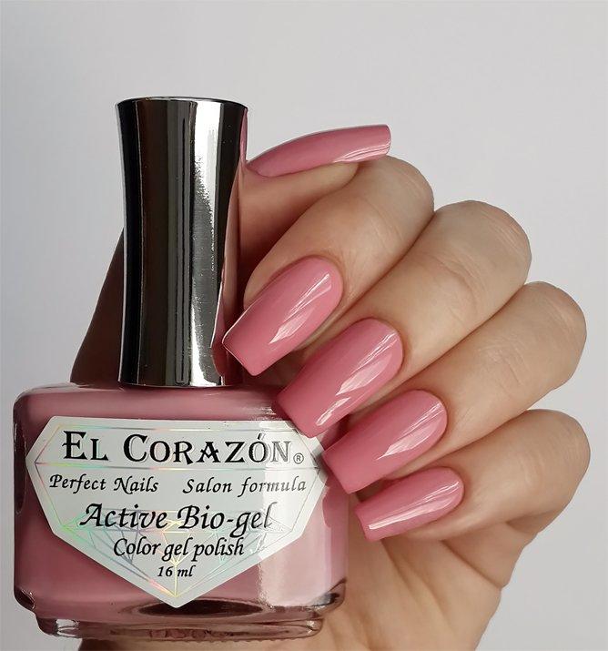 El Corazon Active Bio-gel Color gel polish Cream №423/288Лечебный биогель El Corazon<br>Био-гель кремовый розовый, без блесток и перламутра, плотный. Объем 16 ml.<br>