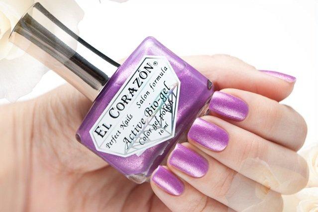 El Corazon Active Bio-gel Magic Purple Charm № 423-552Лечебный биогель El Corazon<br>Био-гель пурпурный, с мерцающими блестами, плотный. Объем 16 ml.<br>