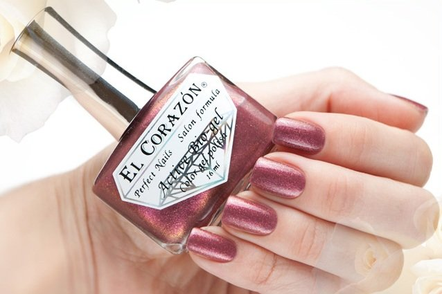 El Corazon Active Bio-gel Magic Evening Fantasy № 423/555Лечебный биогель El Corazon<br>Био-гель розово-коричневый, с мерцающими блестами, плотный. Объем 16 ml.<br>