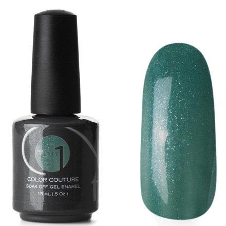 Entity One Color Couture, цвет №6233 Military Look 15 mlColor Couture Entity One<br>Гель-лак холодного темно-зеленого цвета с сероватым оттенком и мелкими серебряными блестками, плотны<br>
