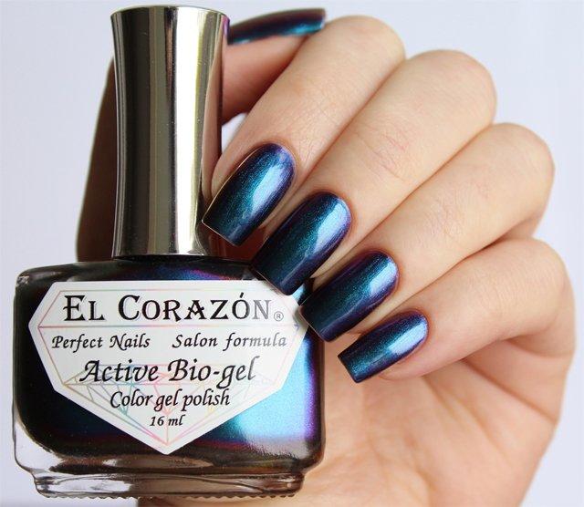 El Corazon Active Bio-gel Polishaholic Fairy № 423-721Лечебный биогель El Corazon<br>Био-гель синий хамелеон, плотный. Объем 16 м.<br>