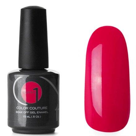 Entity One Color Couture, цвет №5557 Five Inch Heels 15 mlColor Couture Entity One<br>Гель-лак красный с розоватым оттенком, плотный<br>