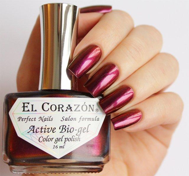 El Corazon Active Bio-gel Polishaholic House № 423/723Лечебный биогель El Corazon<br>Био-гельменяет оттенок сбордового на бронзовый,хамелеон, плотный. Объем 16 м.<br>