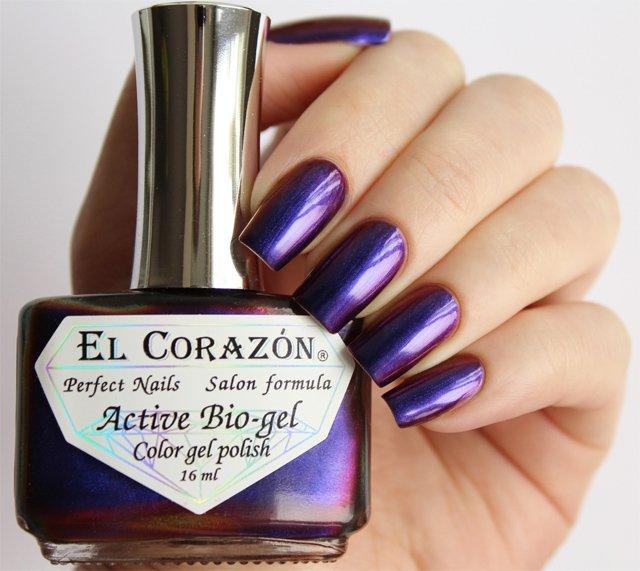 El Corazon Active Bio-gel Polishaholic Sphere № 423-724Лечебный биогель El Corazon<br>Био-гельменяет оттенок с фиолетового на коричневый,хамелеон, плотный. Объем 16 м.<br>