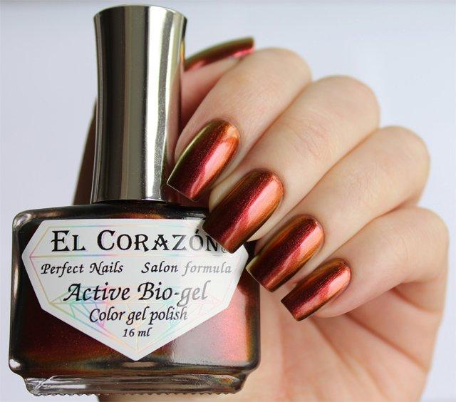 El Corazon Active Bio-gel Polishaholic World № 423-726Лечебный биогель El Corazon<br>Био-гель оранжевый,хамелеон, плотный. Объем 16 м.<br>